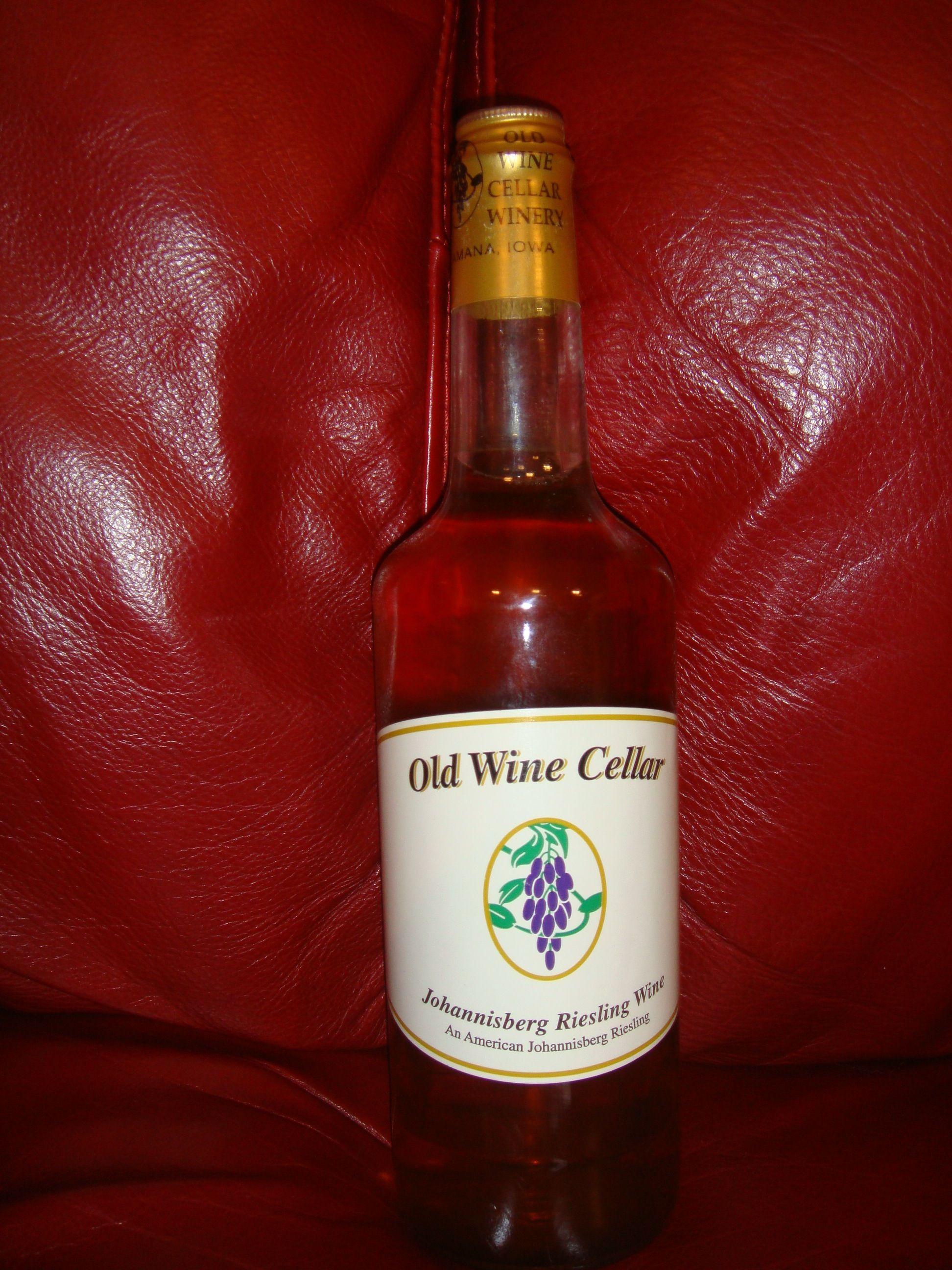 Johannisberg Riesling Wine By Old Wine Cellar Winery In Amana Ia Riesling Wine Wine Cellar Winery