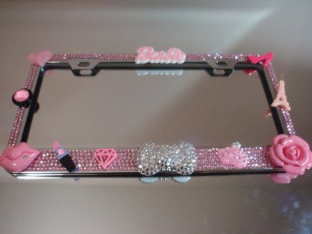 36 Luxury Kawaii License Plate Frame Bling Xl Crystal