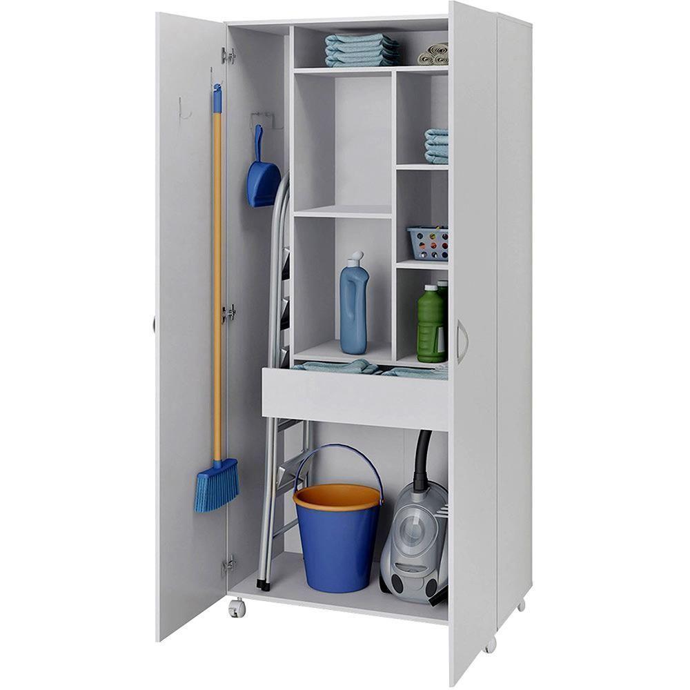 Sao Paulo Multipurpose Cupboard 2 Doors And Casters White Politorno Closet Branco Multiuso Paulo In 2020 Kitchen Cabinet Storage Storage Cabinets Wardrobe Room