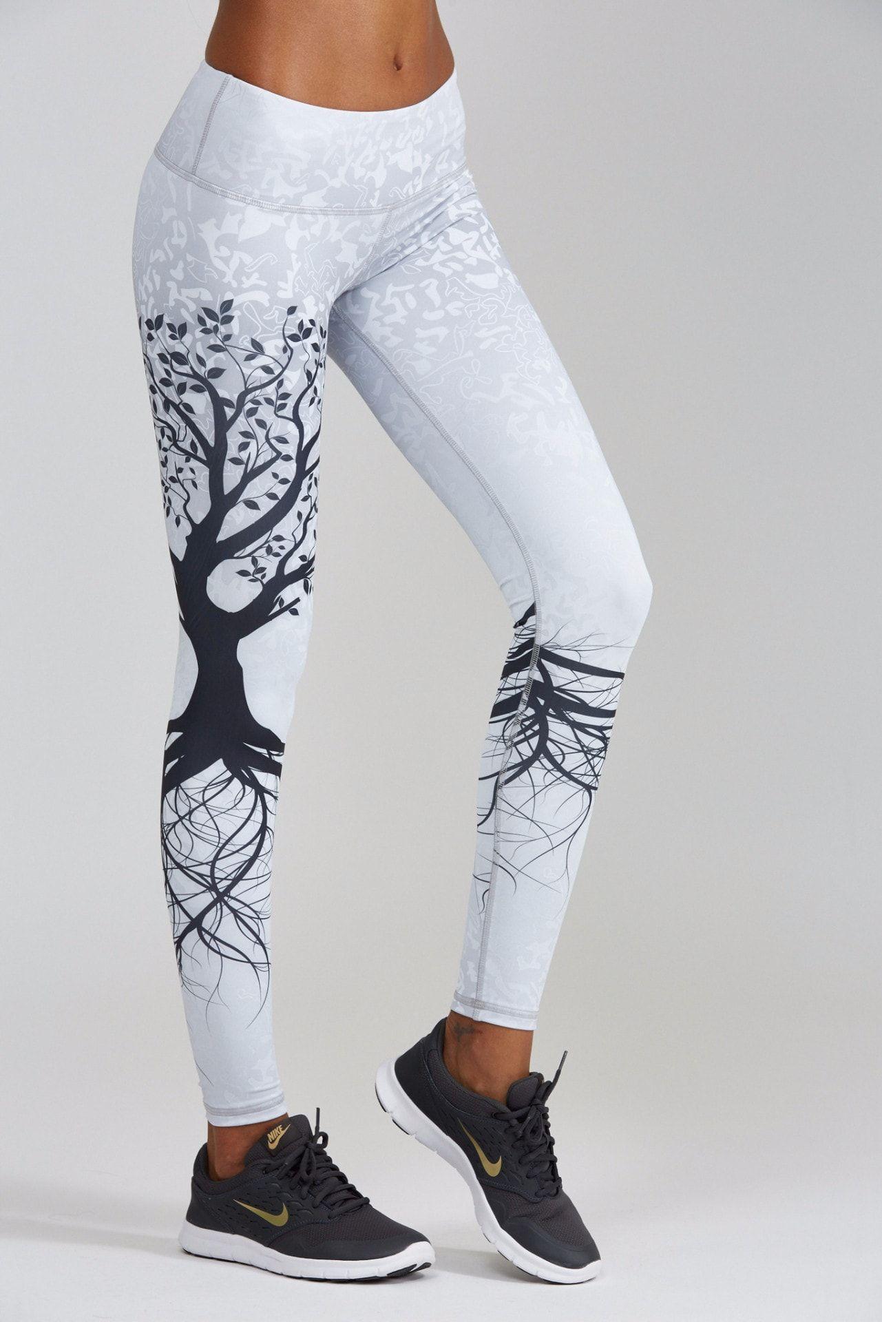 Womens Tree Of Life 3D Print Workout High Waisted Leggings joggers Yoga Pants