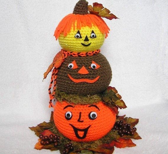 PUMPKIN CENTERPIECE Pdf Crochet Pattern   Herbst, Halloween und Häkeln