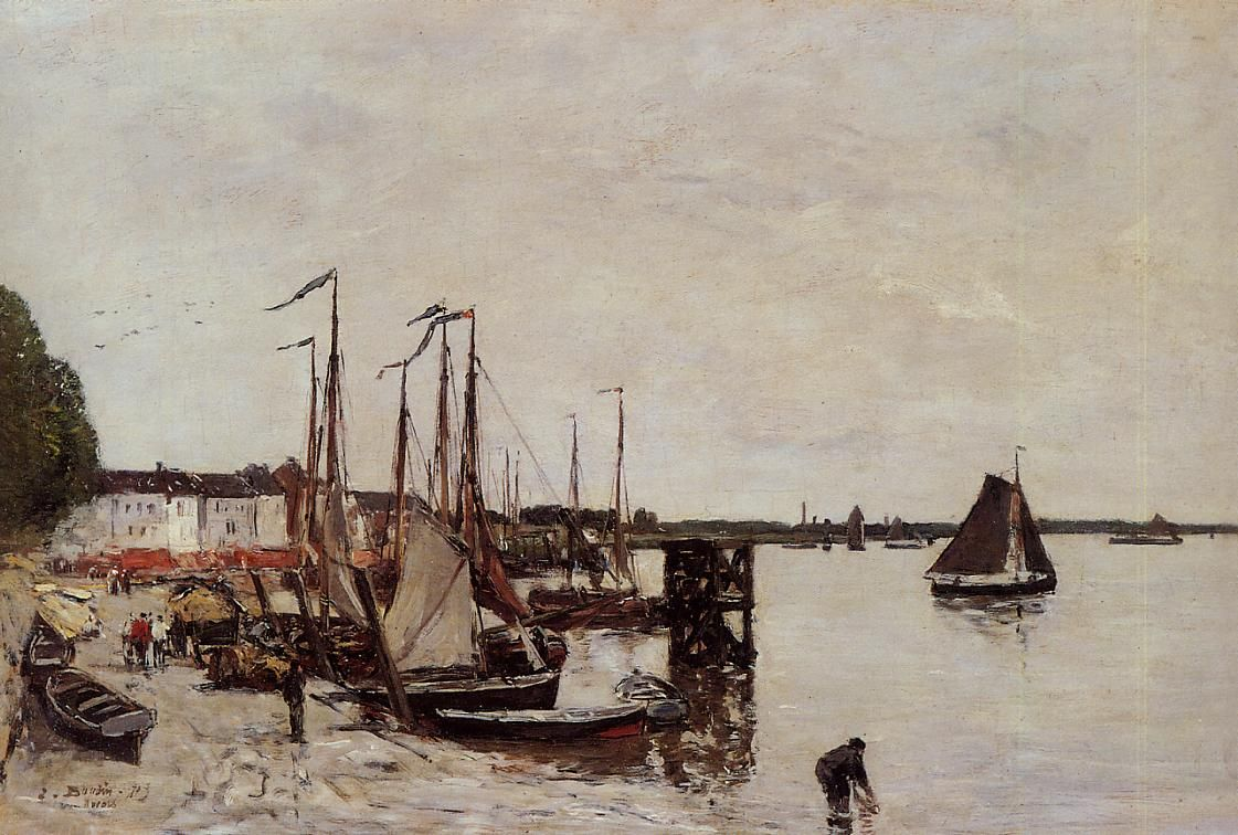 Antwerp, Fishing Boats Eugene Boudin