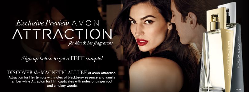 Grab yourself a free sample of Avon Attraction for Him \ Her - free mail sample