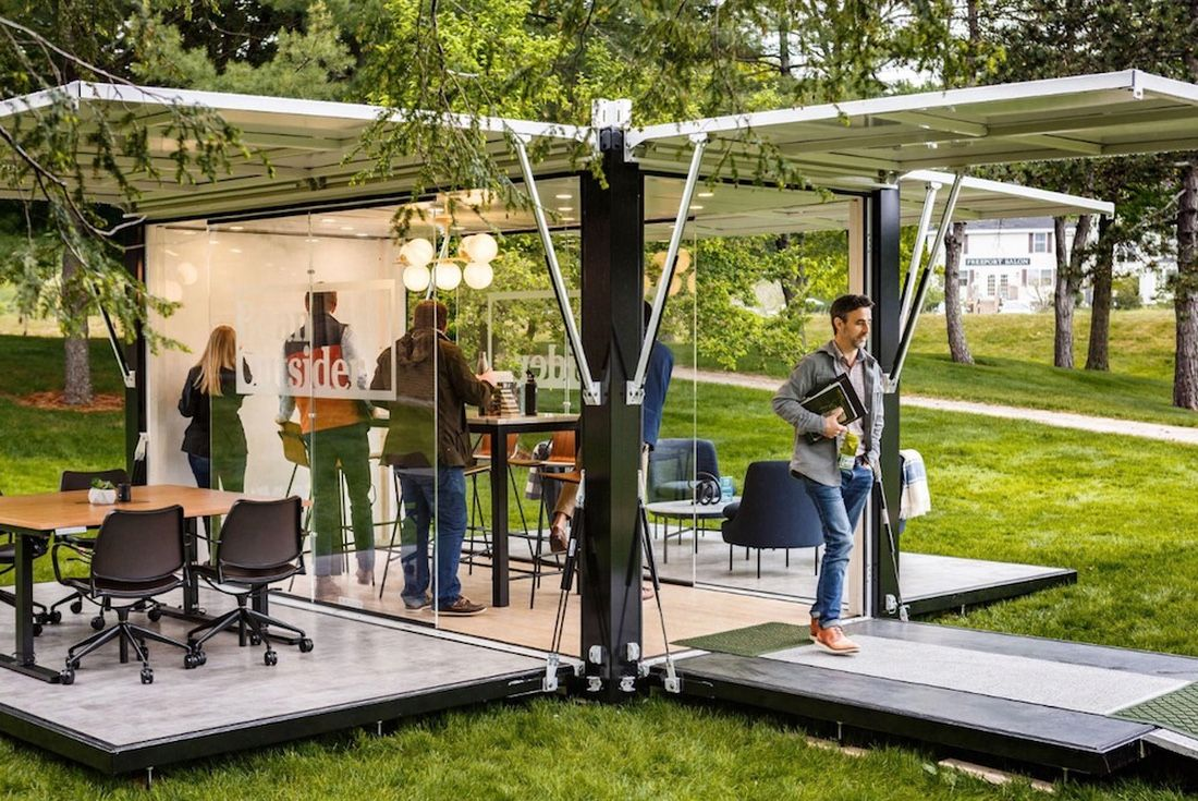 Why Wait To Go Outside After Work When You Can Work Outside All Day Coworking Space Outdoor Office Coworking Design