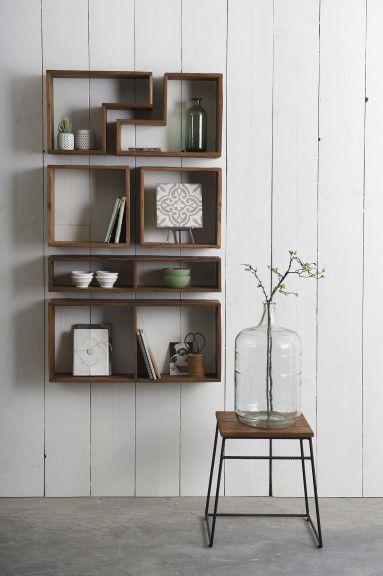 Teak deco opbergkastjes decoratie teak opbergschapjes verschillende vormen meubels pinterest - Deco badkamer meubels ...