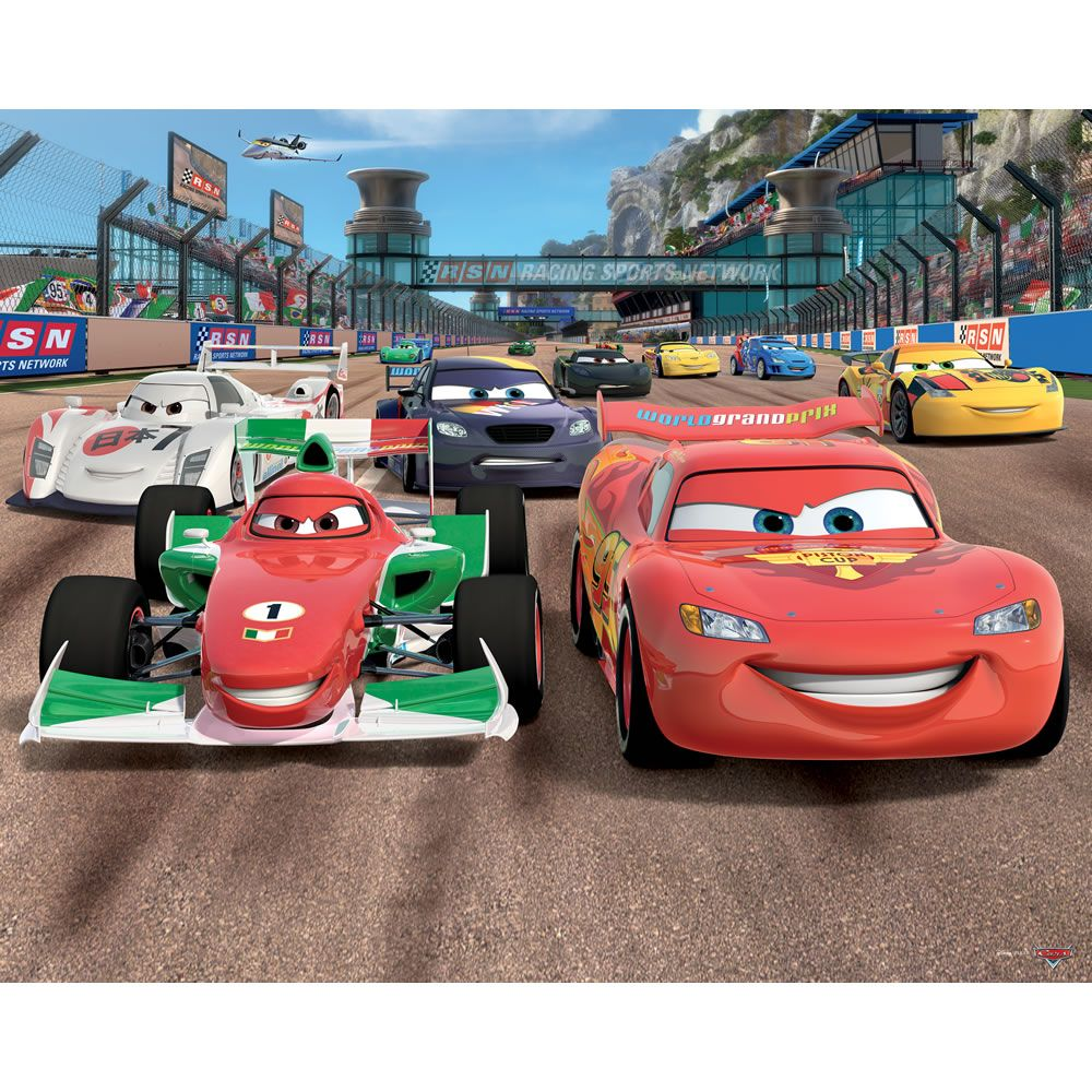 Walltastic Disney Cars Wallpaper Disney cars, Murales