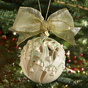 Lily of the Valley Kissing Ball Ornament by Lenox  Christmas
