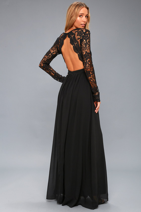 Awaken My Love Black Long Sleeve Lace Maxi Dress Long Sleeve Lace Maxi Dress Black Lace Maxi Dress Black Lace Maxi