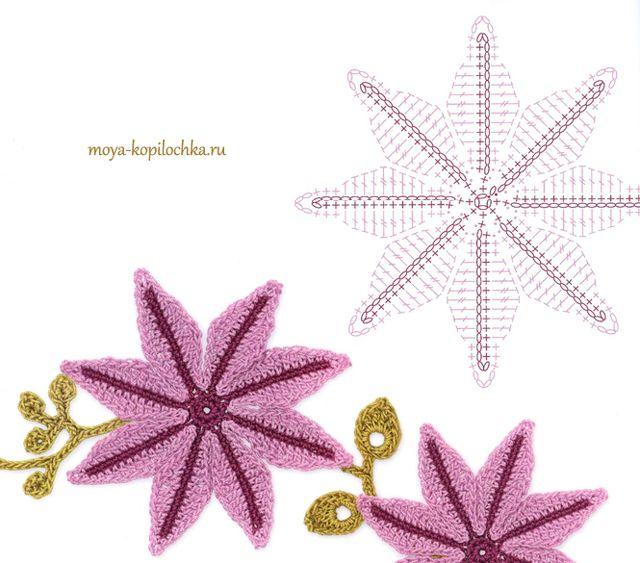 100 crochet flowers diagrams part 1 szydeko wzory 100 crochet flowers diagrams part 1 szydeko wzory pinterest crochet flowers crochet and crochet diagram ccuart Gallery