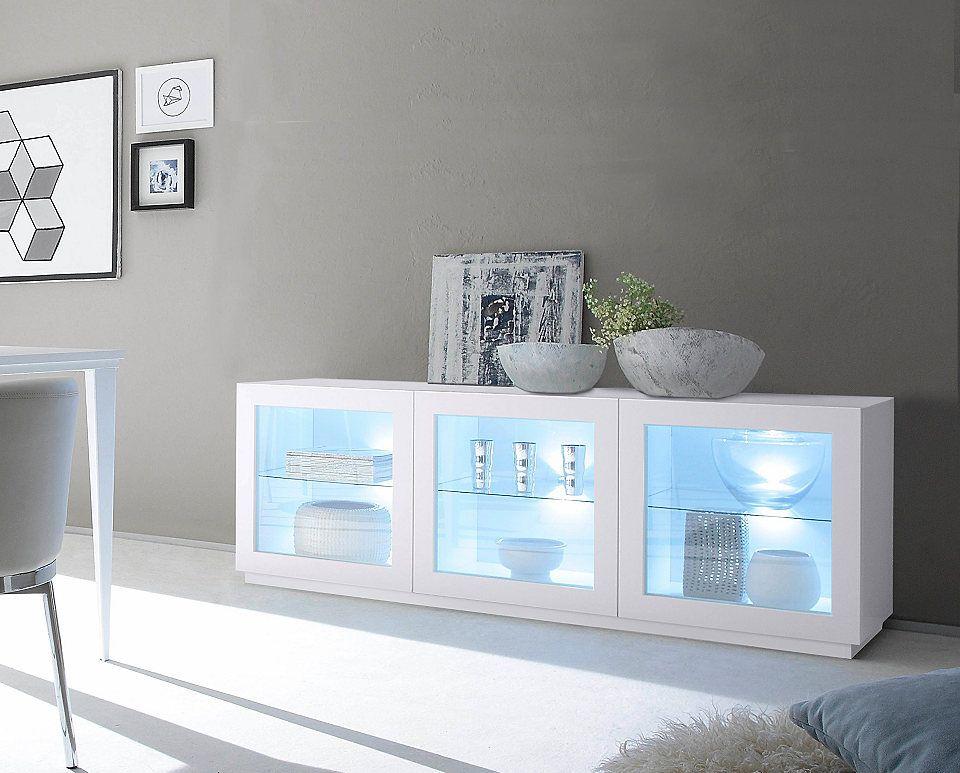Sideboard mit Glaseinsatz »Zela«, 3-türig, Breite 184 cm Jetzt - sideboard für wohnzimmer
