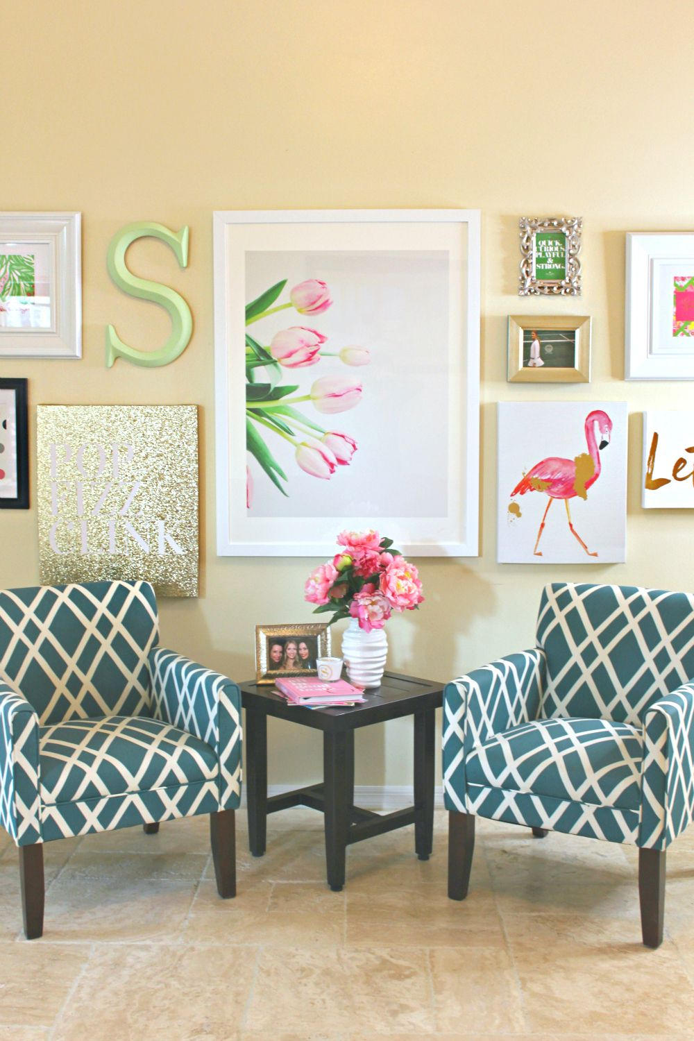 lilly pulitzer chair westbrook valet stand pulitzer-inspired wall art collage | for the home pinterest collages ...