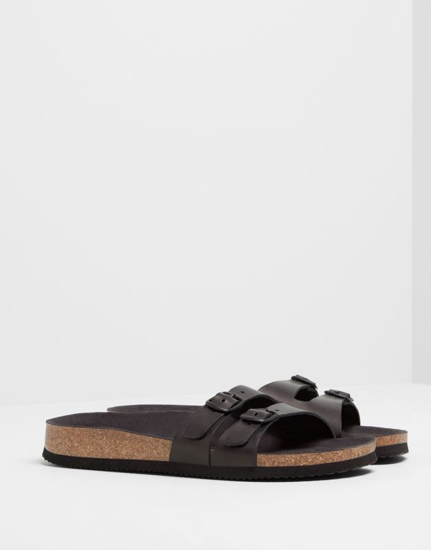 URBAN CORK SANDALS - · New products - FOOTWEAR - PULL&BEAR Netherlands