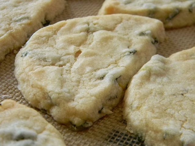 Pineapple Sage, Lemon Balm, Lemon Zest and Coconut Shortbreads by jazzijava, via Flickr