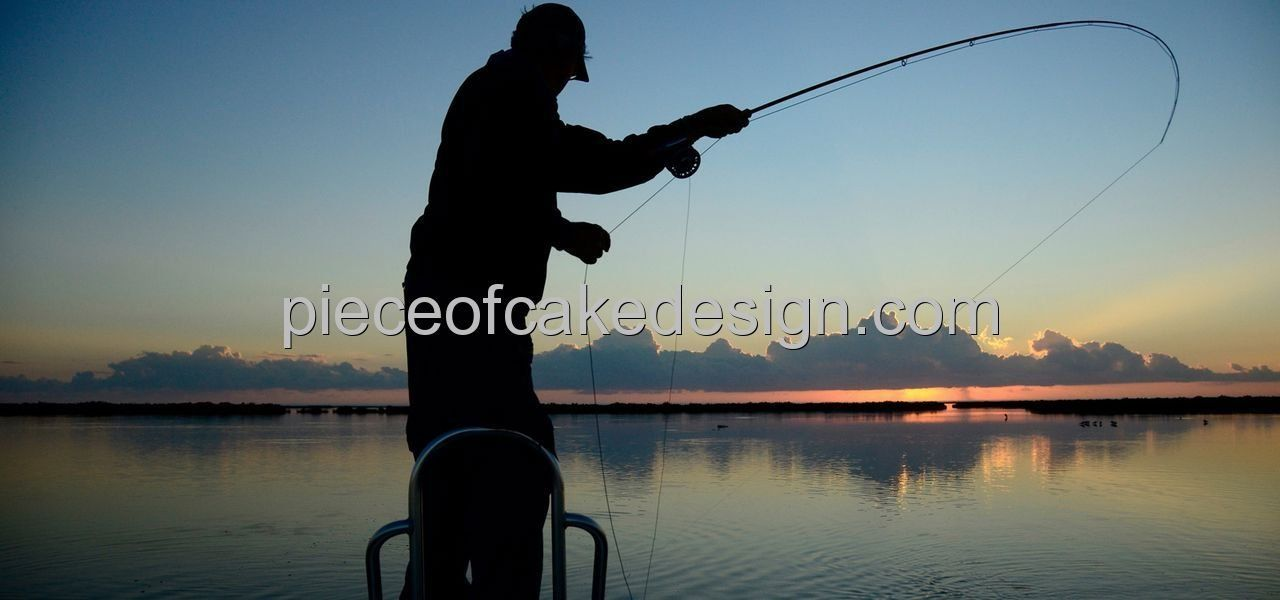 1/4 Sheet ~ Fly Fishing Action Shot Birthday ~ Edible Image Cake/Cupcake Topper!!! *** Remarkable discounts available  : Baking decorations