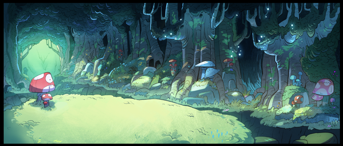 gravity falls gnome forest background Рисунки, Гравити