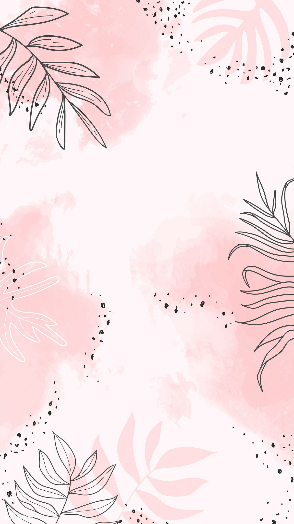 Download premium vector of Pink leafy watercolor mobile phone wallpaper vector by Aum about pink leafy watercolor mobile phone, watercolor leafy mobile phone wallpaper, flower pastel watercolor mobile wallpaper, floral phone background, and watercolor mobile phone wallpaper 1222759