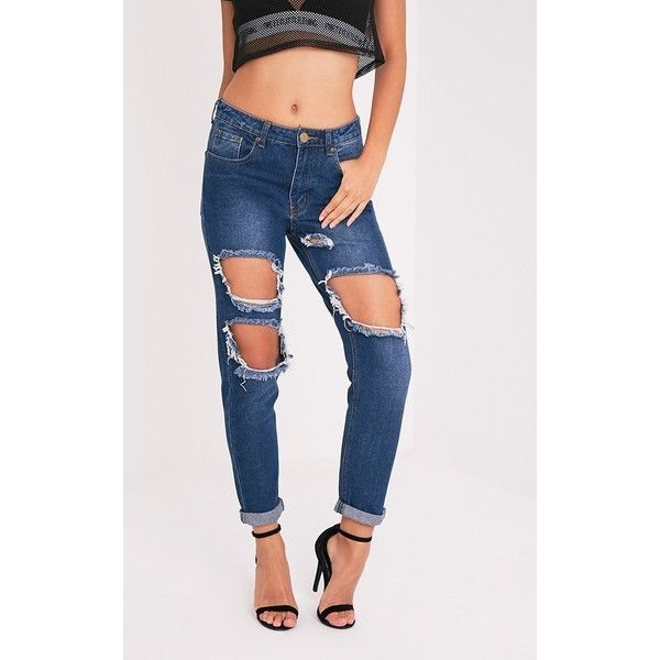 Destroyed jeans damen 42