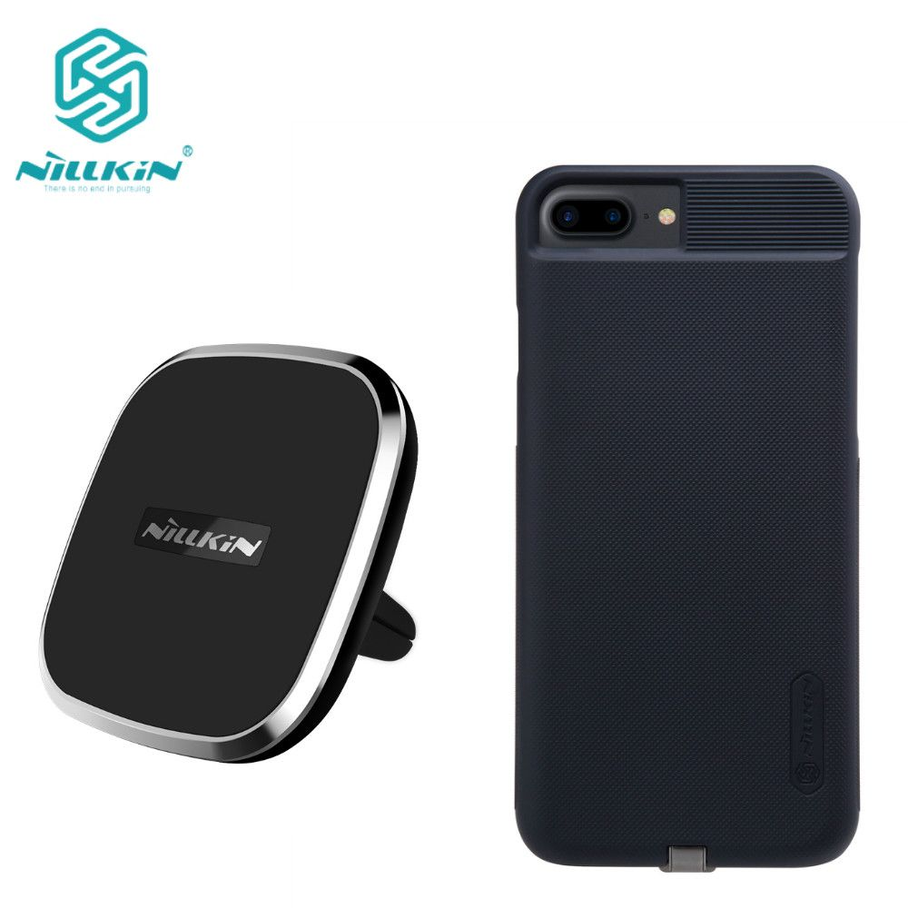 45e62eb1378 Nillkin Qi Car wireless charger pad Receiver case For iphone 6 6s  6s Plus 7   7 plus Phone Holder Magnetic Air Vent Mount pad Price  61.50   FREE Shipping    ...