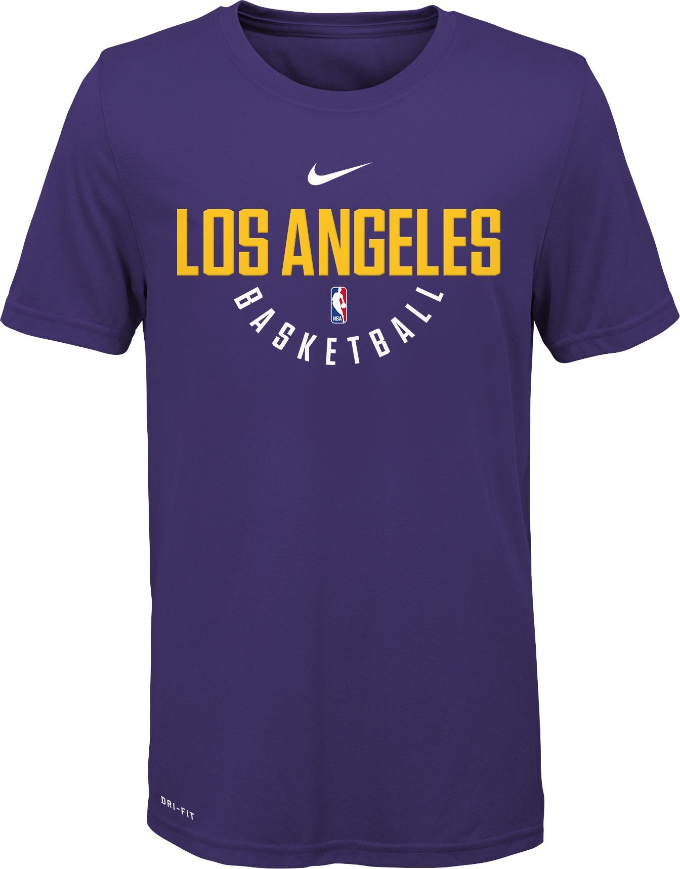 1f3fdc987 Nike Youth Los Angeles Lakers Dri-FIT Purple Practice T-Shirt