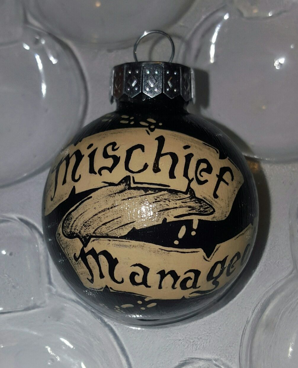 "Maurader's Map ""Mischief Managed"" Ornament, $15.41"