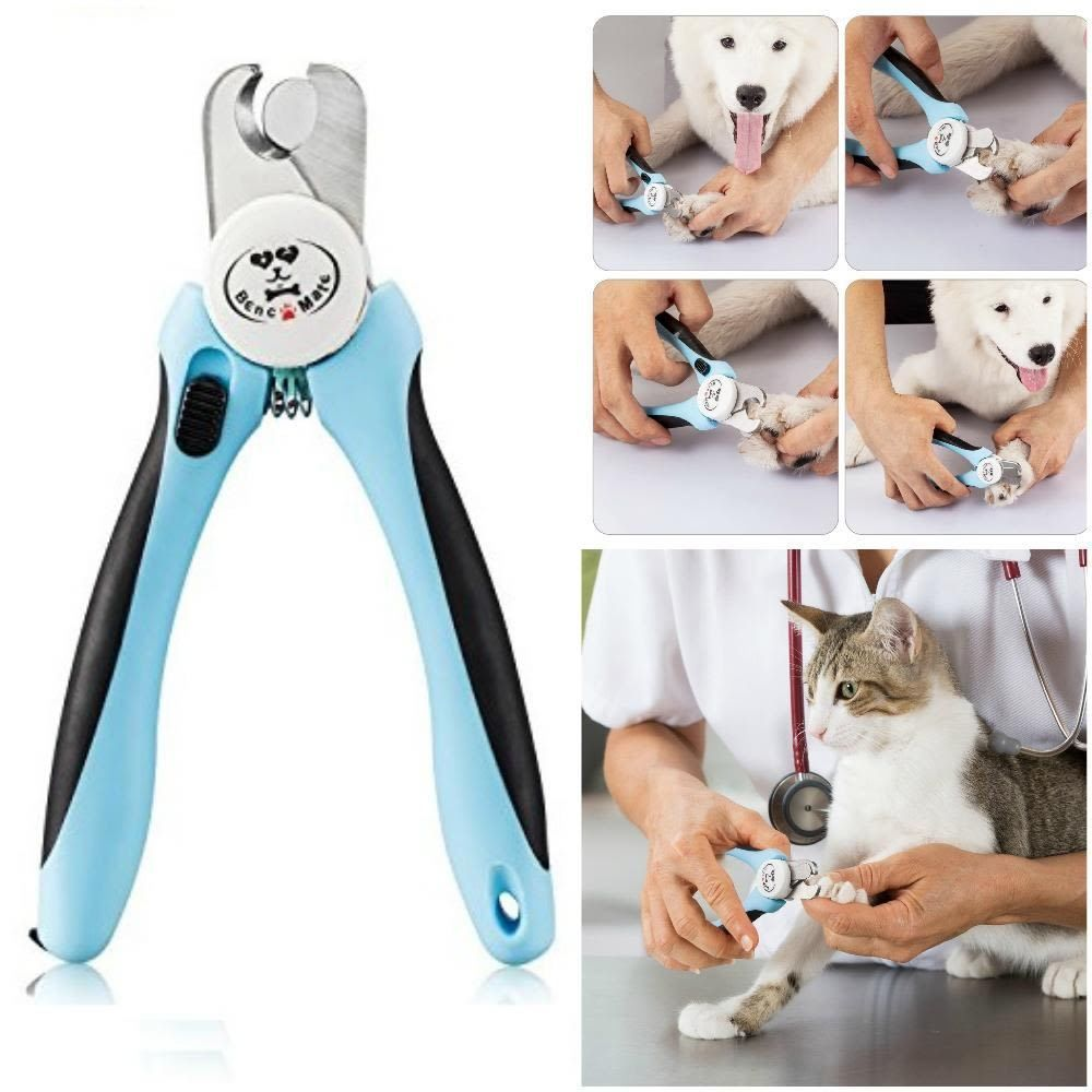 Pet Dog Cat Nail Clippers Trimmer Tool w/ Safety Guard Avoid Over ...