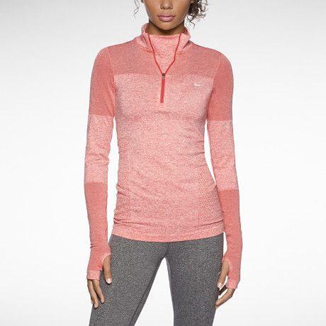 Nike Dri-FIT Knit Long-Sleeve Half-Zip Women's Running Shirt ...