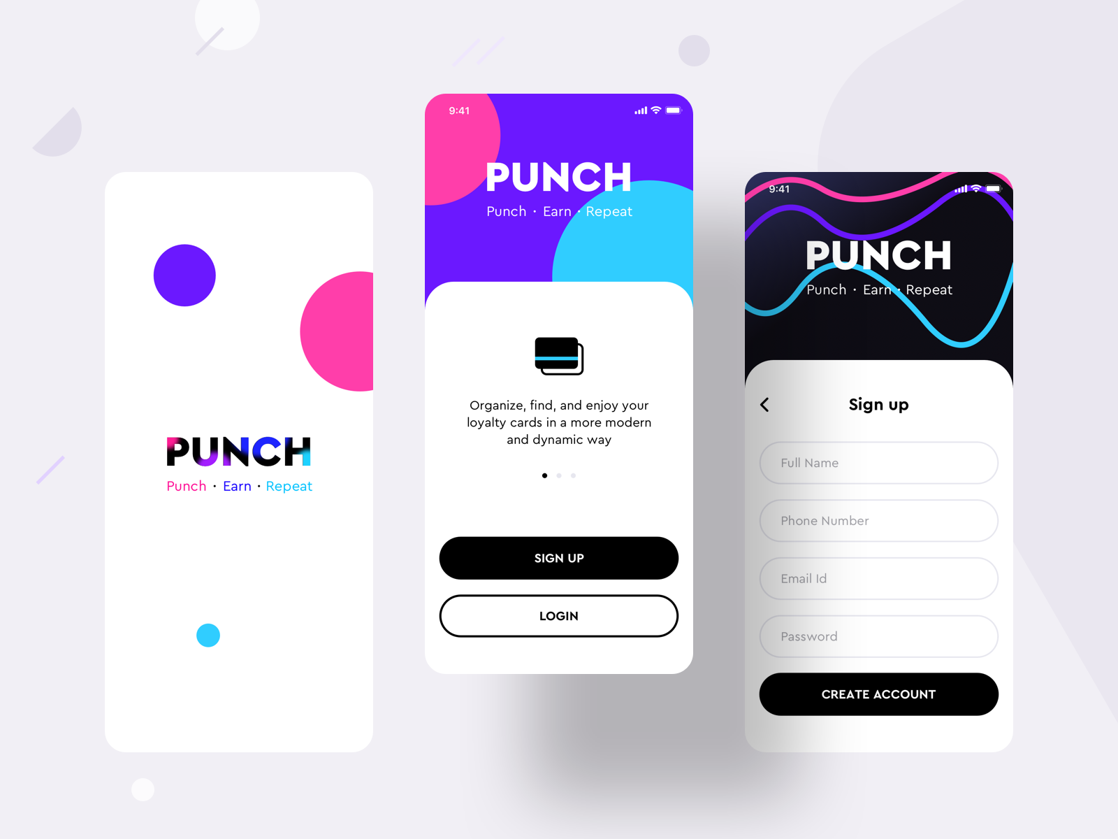 Loyalty Cards Collection Product Punch App Version 2 Loyalty Card App Design App Mockup Free