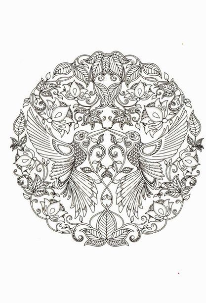 By JOHANNA BASFORD From Secret Garden Colouring PagesMandala ColoringColoring BookAdult