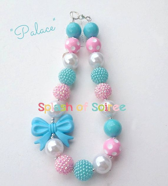 Chunky Necklace-Girl Chunky Necklace-Bubblegum by SplashofSoiree