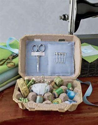 egg carton sewing kit - def making this for my daughter when she goes to college.