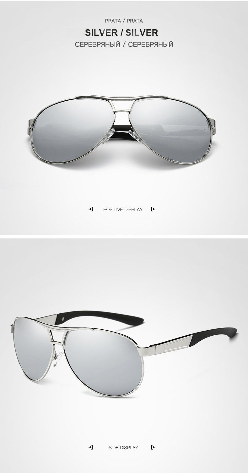 585a50dea3 HDCRAFTER pilot sunglasses men polarized uv400 high quality classic ...