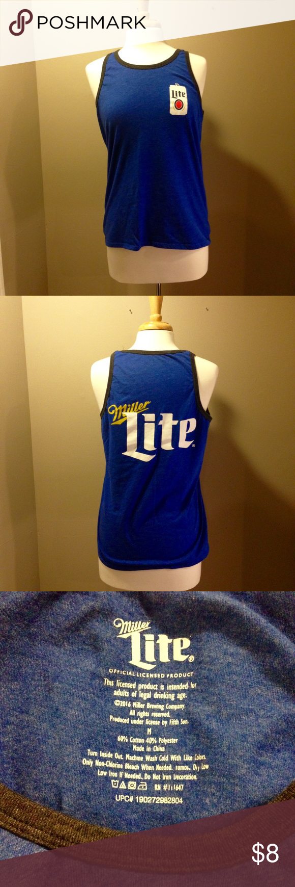 4ab75d5547234 🍻Miller Lite tank top Medium