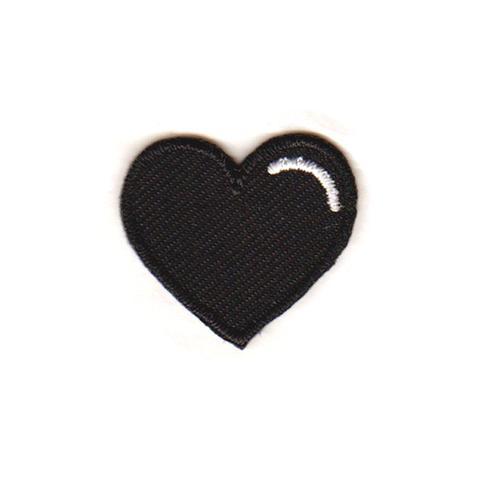 Black Heart Sticker Patch