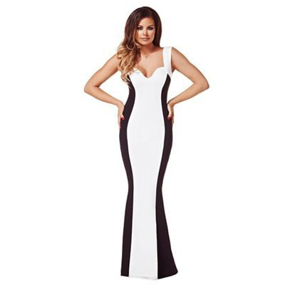 Debenhams black and white maxi dress