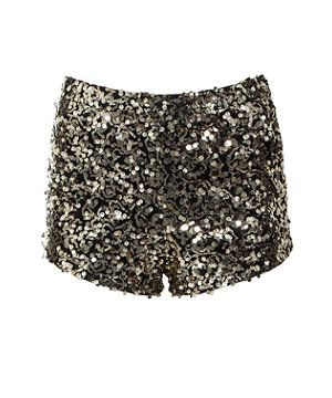 Black (Black) Parisian Gold Sequin Hotpants | 265498201 | New Look