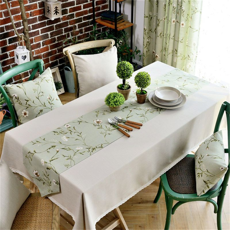 Europe Tablecloth 100 Cotton Linen Wedding Table Cloths Dining Room Table Covering With Floral Table Cloth Runner Wedding Table Linens Dining Room Table Table