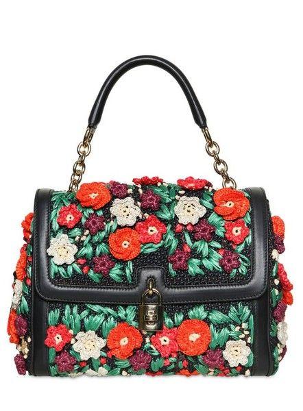e0b30d4d0491 DOLCE GABBANA Woven Raffia Top Handle Bag - Lyst