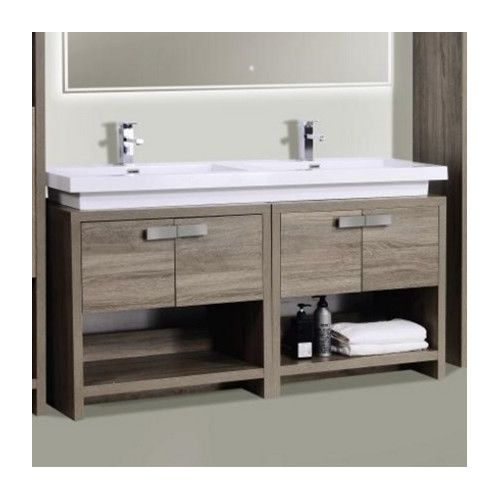"Found It At Allmodern  Levi 63"" Double Modern Bathroom Vanity Set Extraordinary Modern Bathroom Vanity Decorating Design"
