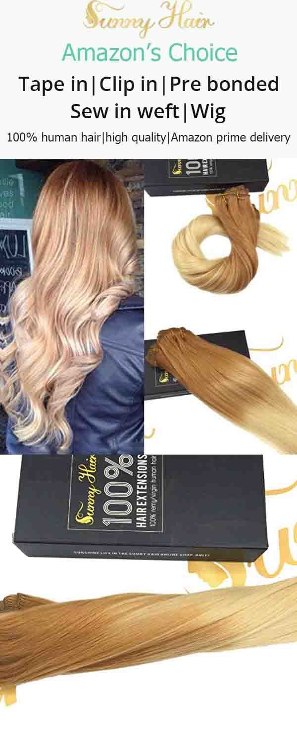 Sunny Balayage Clip In Extensions Remy Human Hair Color Light Golden