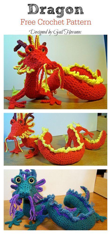 Crochet Chinese Dragon Amigurumi Tutorial & Pattern | Gratis ... | 995x474