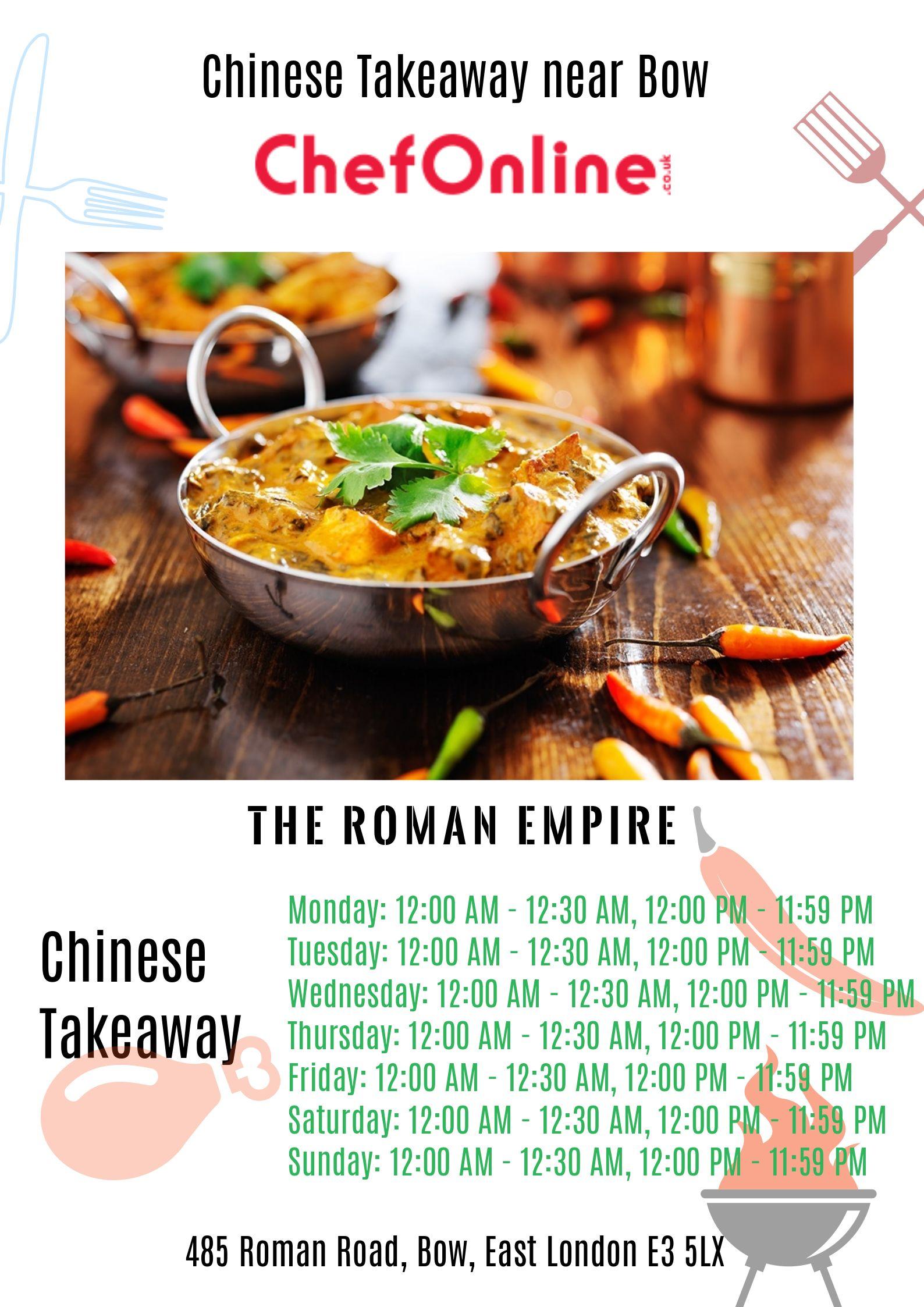 Chinese Takeaway Near Bow The Roman Empire Indian Food Recipes Italian Takeaway Order Takeaway