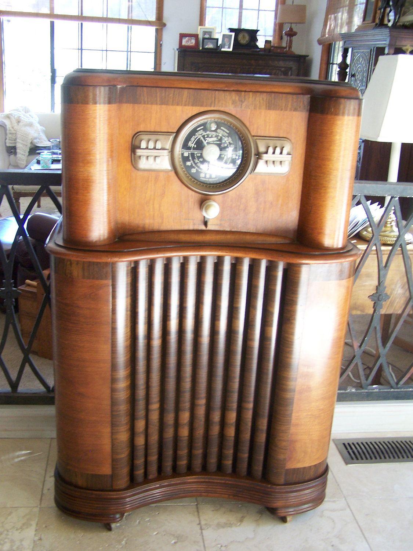 Console Radio Zenith 1940 Vintage Radio Antique Radio Vintage Radio Cabinet
