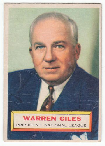 1956 Topps Warren Giles #2 Rookie Card G/VG  $12.40