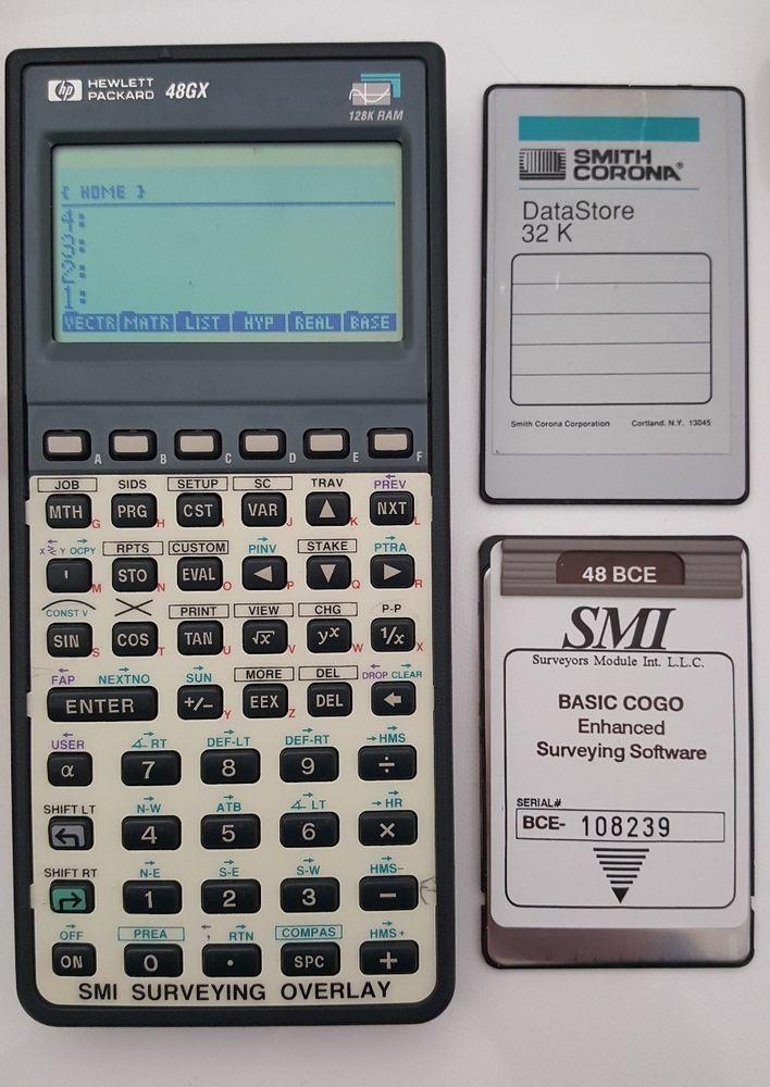 smi 48 bce cogo surveying software card 32k card hp 48gx rh pinterest com hp 48gx manual download hp48 manual pdf