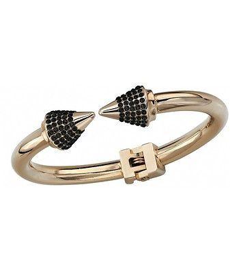 Vita Fede Titan Black Crystal Bracelet Yellow Gold Rock Roll Italy Used Once | eBay