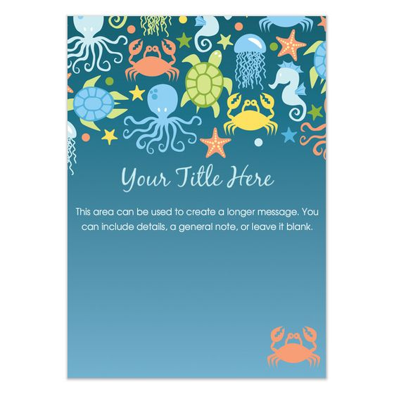 Under The Sea Invitations Cards On Celebrations Com Printable Invitation Templates Invitation Template Party Invite Template