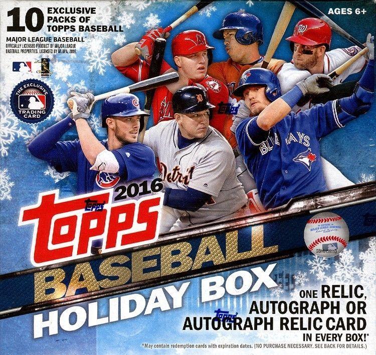 c47a8a34a3e 2016 TOPPS HOLIDAY BOX BASEBALL 16 BOX CASE BLOWOUT CARDS  BaseballCards