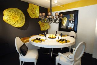 Room Black Accent Wall In Dining