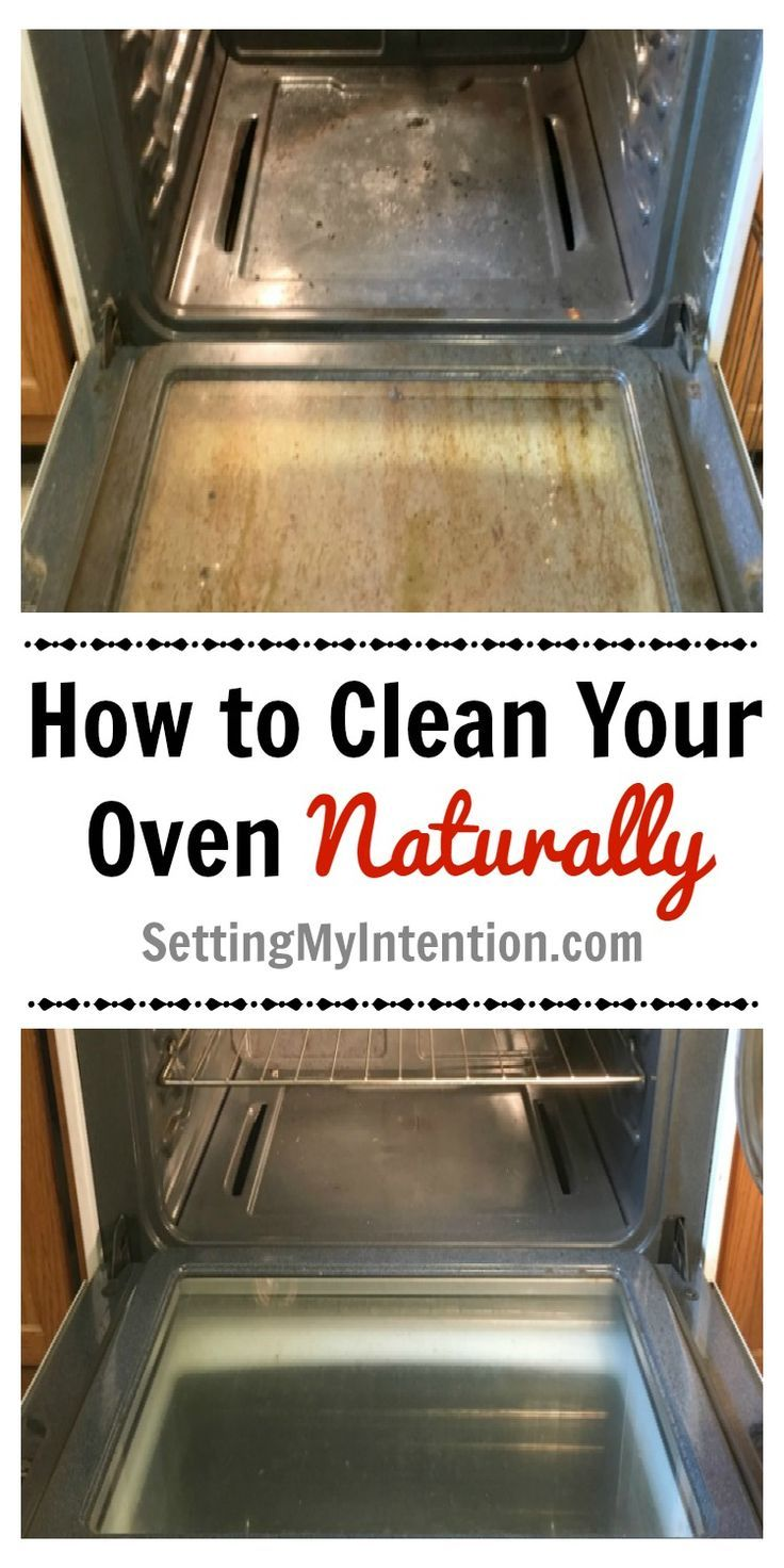 How to clean your oven naturally with 3 items that you probably already have in your house! This way is chemical free and safe to do around the whole family.