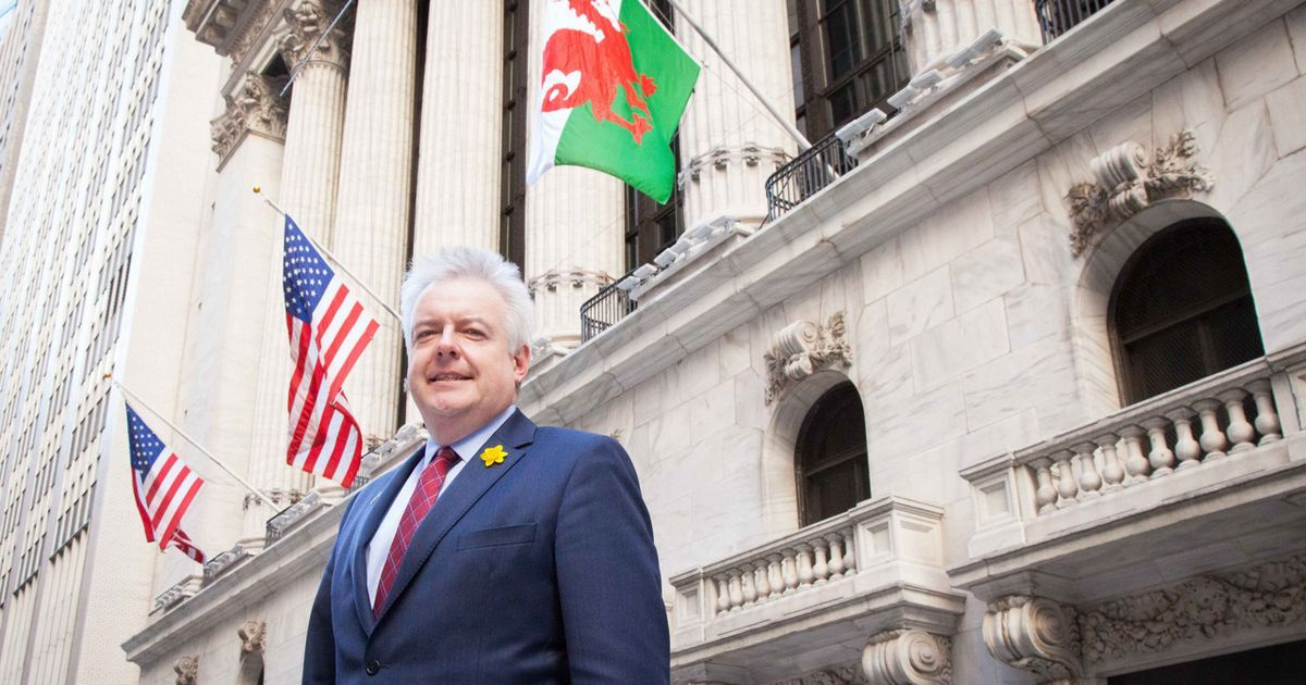 First Minister Carwyn Jones is in the USA on a trade visit to coincide with St David's Day